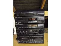 TECHNICS, COMPLETE SYSTEM, 5 SEPARATES + SPEAKERS ALL WORKING WITH MANUALS