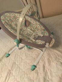 Matching baby swing and rocker