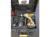 WORX WX369.2 18v CORDLESS HAMMER DRILL IN GOOD CONDITION AND FULL WORKING ORDER