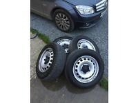 Vw Caddy Wheels 4x New Tyres