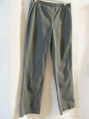 Sm Pull Green - OSO CASUALS Olive Green Pull on Pants with Slimming Panel - Size SMALL- NEW