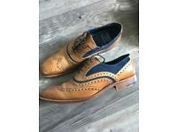 Barker men's McLean shoes blue suede size 6.5