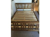 Wooden double bed £50 0NO
