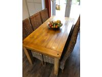 Complete Set Solid Oak Furniture Land Mango Table Chairs Bookcase Sideboard TV Cabinet Wine Cabinet