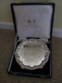 Arthur Price 17cm silver-plated plate - in box