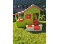 Outdoor childrens playhouse plastic