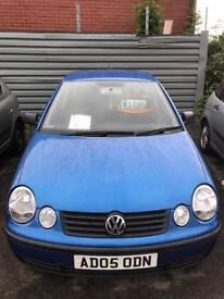 Volkswagen polo 1.2 petrol 5 doors hatchback 5 seater family car 2005 05 plate