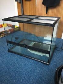 Glass vivarium and heat mat
