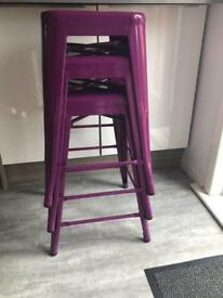 Stackable Bar Stool Purple