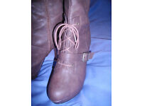 New Look brown stiletto boots - UK Size 7