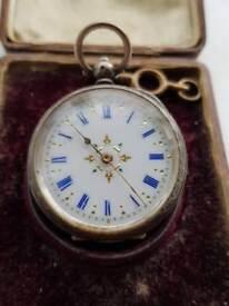 Solid silver pocket watch