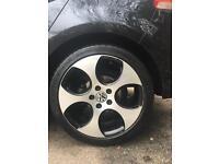 "Volkswagen VW Golf 18"" GTI Monza Shadow Alloys/6mm Mitchellin Pilot Sport Tyres"