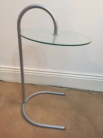 Vintage Glass Side table - Chrome Retro Ghost look - £15