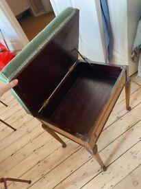 Edwardian style Piano Stool
