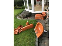 Retro bathroom suite unusual orangey brown