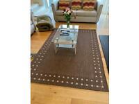 Large luxury brown rug