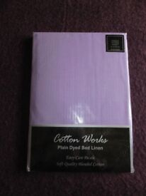 New Lilac SINGLE Fitted Sheet, Soft Quality Blended Cotton