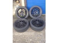 "19"" BMW alloy wheels 5 series e39"