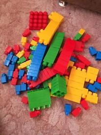 Megabloks bundle including figures and bath toy