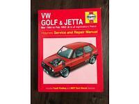 Haynes VW Golf & Jetta Car Manual 84-92