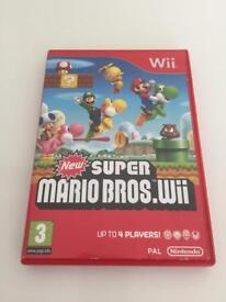 NEW SUPER MARIO BROS WII GAME NO MANUAL INCLUDED