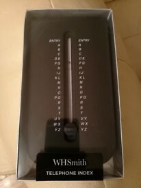 Brand New WHSmith Black Compact Telephone Index Notebook With A-Z Index
