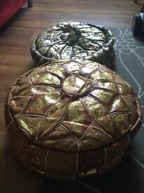 Two Egyptian floor cushions