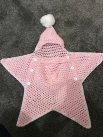 Baby knitted star blanket