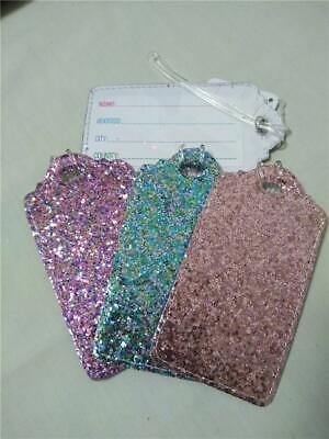 *Luggage Tag*Super Sparkle Confetti Glitter*Backpack ID*Purs