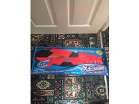 BRAND NEW X STREAM WATER GUN WITH MUSIC HUGE RED SUPER SOAKER SUMMER BIRTHDAY GIFT