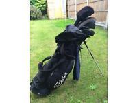 Wilson golf clubs set and titleist bag