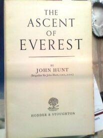 The Ascent of Everest by John Hunt 1953 Hodder & Stoughton First Edition.