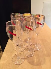 12 Mumm Champagne Glasses