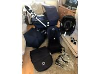 Cam 3 classic navy bugaboo cameleon 3 limited edition classic carseat footmuff parasol adapters