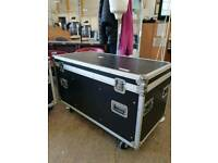 Large black flight tour cases