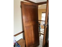1930's internal pine door - French polished
