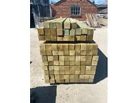 10Ft Pressure Treated Wooden Fencing Posts - New
