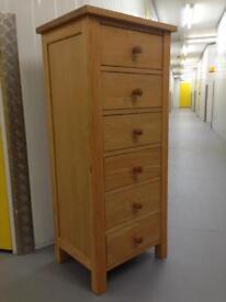 Solid oak tallboy chest of drawers dresser sideboard - Laura Ashley John Lewis habitat loaf oka