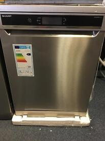 Sharp QW-GT43F3931 brand new stainless Steel dishwasher
