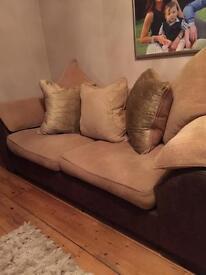 DFS three & two seat sofa