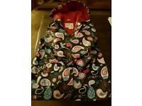 Hatley girls raincoat size 6 years