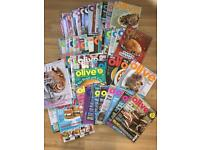 Collection of Olive magazines
