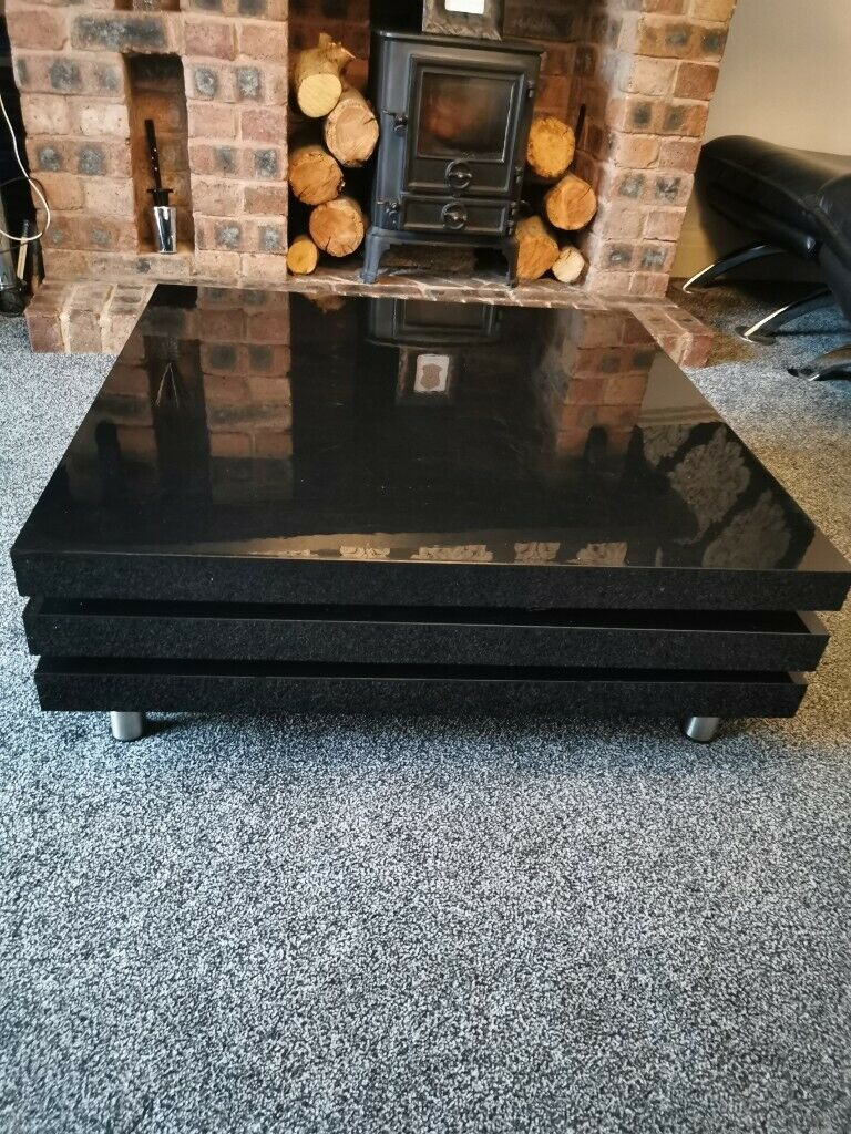 Brilliant Dwell Black Gloss Rotating Coffee Table In Bolton Manchester Gumtree Cjindustries Chair Design For Home Cjindustriesco