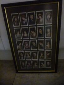 wills cigarettes cards, 2nd series cinema stars, complete and framed, £5.00