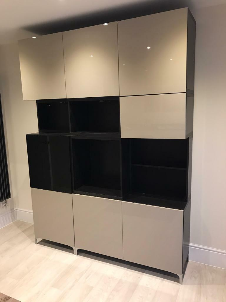 ikea besta storage unit in newport gumtree. Black Bedroom Furniture Sets. Home Design Ideas