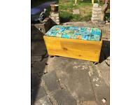 Upcycled storage blanket or toy box