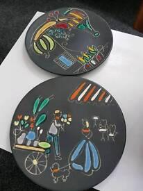 Vintage 60's West German Lava Plates