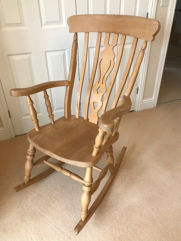 Antique Pine Rocking Chair - Antique Pine Rocking Chair In Epsom, Surrey Gumtree