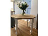 Reclaimed Painted 42'' Round Farmhouse Table- Farrow & Ball