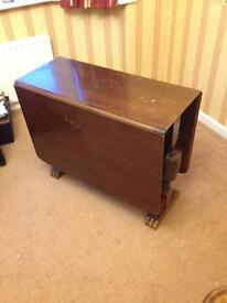 1930's folding dining table